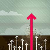 Groundbreaking arrow — Stock Vector