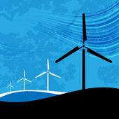 Wind Farm on Blue — Stock Vector