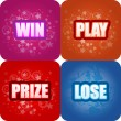 Win, Play, Prize, Lose Graphics - Stock Vector
