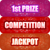 1st Prize, Competition, Jackpot Graphics — Stock Vector