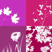 Pink Floral Background Graphics — Stock Vector
