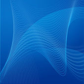 Wavy Line Background on Blue — Stock Vector