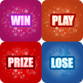 Win, Play, Prize, Lose Graphics — Stock Vector