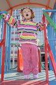 Little girl on playground — Stock Photo