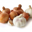 Onions and garlic — Stock Photo
