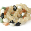 Stock Photo: Large beads of different stones