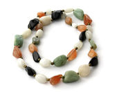 Large beads of different stones — Stock Photo