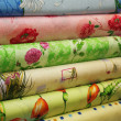 Royalty-Free Stock Photo: Different colored fabric in rolls