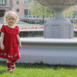 Blond girl on the walk - Foto Stock