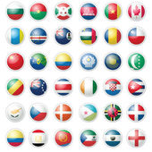 Pack of Almost 40 Flags — Stock Vector