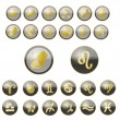 Zodiac Symbols Set - Stock Vector