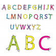 Alphabet vector colorful — Stock Vector
