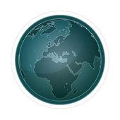 Globe — Stockvektor