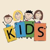 Kids Illustration — Stock Vector