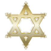 Gold Star Of David Symbol — Stock Vector