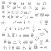 значки и символы — Cтоковый вектор