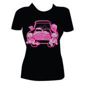 T-shirt Design for Women — Stock Vector