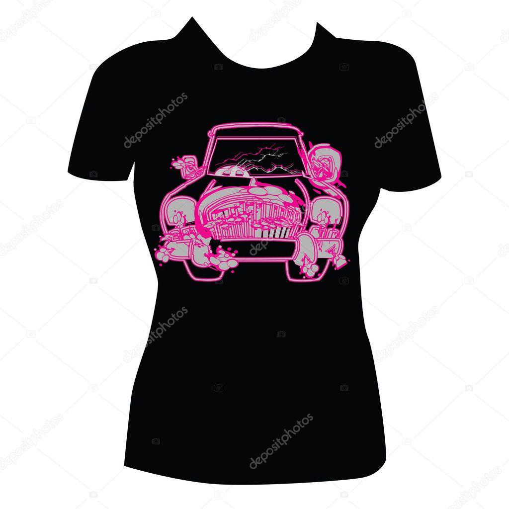 T shirt design for women stock vector bigfatnapoleon for Stock t shirt designs