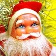 Stock Photo: Santa claus on yellow background