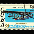 Old Cuban postage stamp with airplane — Stock Photo #2907749