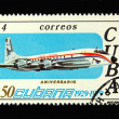 Old Cuban postage stamp with airplane — Stock Photo #2907881