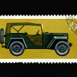 Stock Photo: Old Russian postage stamp with car