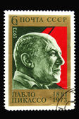 Old Soviet postage stamp with Pablo Pica — Stock Photo