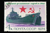Old Russian postage stamp with ship — Stock Photo