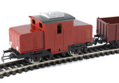 Toy Diesel Locomotive and freight wagon — Stock Photo