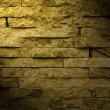 Brick wall and light — Stock Photo