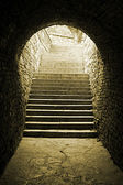 Old Brick Tunnel — Stock Photo