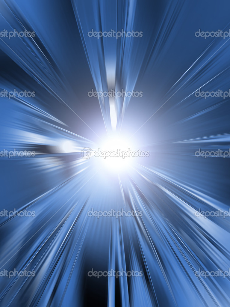 Abstract blue light explosion stripes. — Stock Photo #2995354
