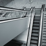 Escalator steps — Stock Photo