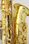 Close-up of saxophone's bell — Stock Photo