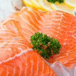 Stock Photo: Salmon on ice