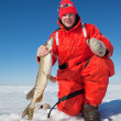 Ice fisherman — Stock Photo