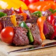 Beef shishkabob — Stock Photo