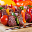 Stock Photo: Beef shishkabob