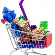 Christmas shopping cart — Stock Photo #2965563