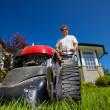 Front lawn mow — Stock Photo #2965895