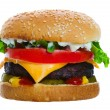 Cheeseburger loaded - Stock Photo