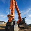 Backhoe at a construction site — Stock Photo