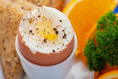 Soft boiled egg — Foto de Stock