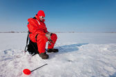 Fishing on ice — Stock Photo