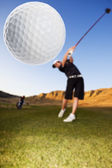 Golf drive — Stock Photo