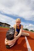 Teen athlete tilt — Stock Photo