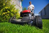 Skosić trawnik — Zdjęcie stockowe
