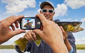 Fisherman snapshot — Stock Photo