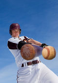 Baseball hit — Stock Photo