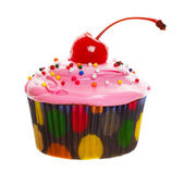 Pink cupcake — Stock Photo